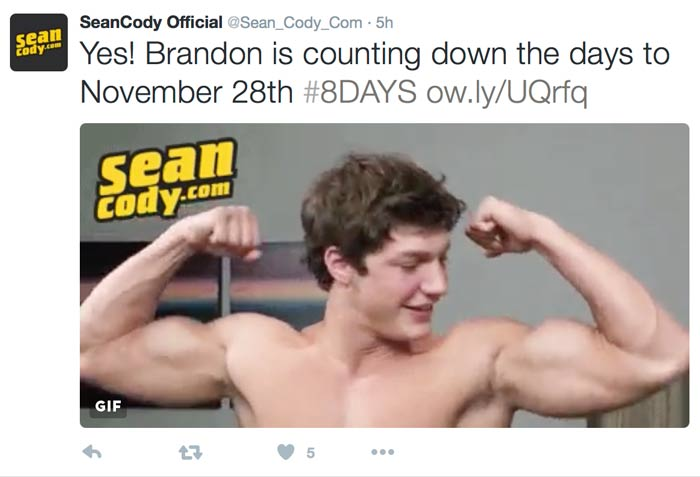 Countdown to Brandon's Black Friday Return at SeanCody