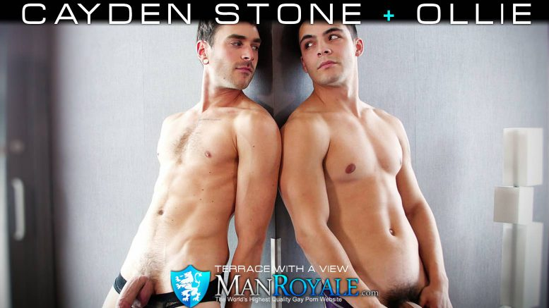 GayRoom (Man Royale): Ollie Fucks Cayden Stone in 'Terrace With A View'