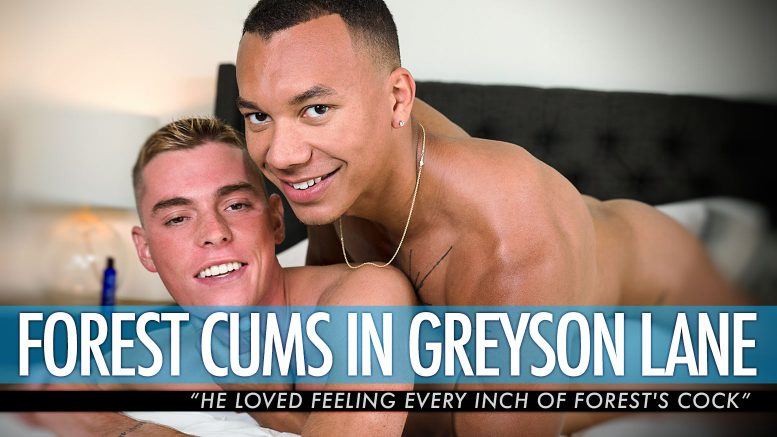 Guys In Sweatpants: Forest Cums in Greyson Lane