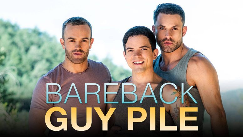 Lucas Enterainment: James Castle, Jackson Radiz and Dakota Payne in 'Bareback Guy Pile, Scene 1'