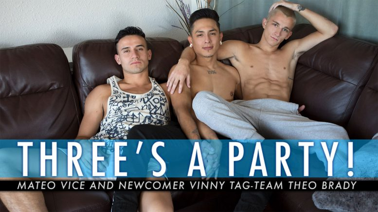 Guys In Sweatpants: Mateo Vice and Newcomer Vinny Hattan Tag-Team Theo Brady in 'Three's A Party'