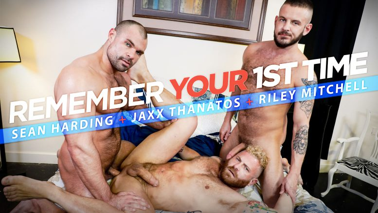 MenOver30: Sean Harding, Jaxx Thanatos and Riley Mitchell in 'Remember Your 1st Time?'