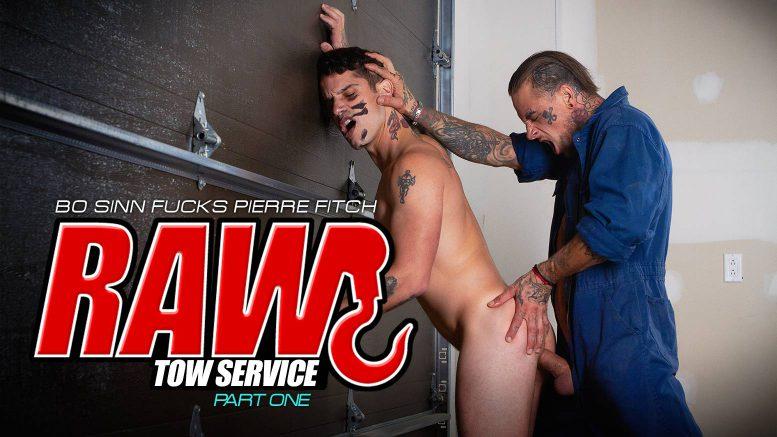 BROMO!: Bo Sinn Fucks Pierre Fitch in 'Raw Tow Service, Part 1'